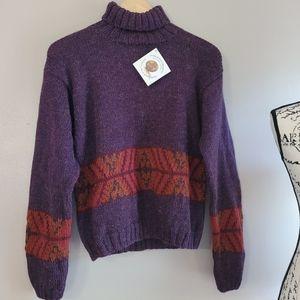 Indigenous Designs Alpaca/Wool Turtleneck Sweater